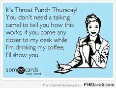 It's Throat Punch Thursday You Thursday Meme