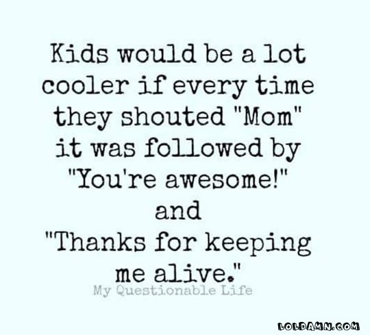 Kids Would Be A Lot Funny Mom Quotes