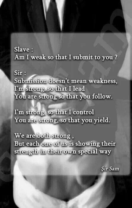 Slave Am I Weak So Dom Sub Quotes