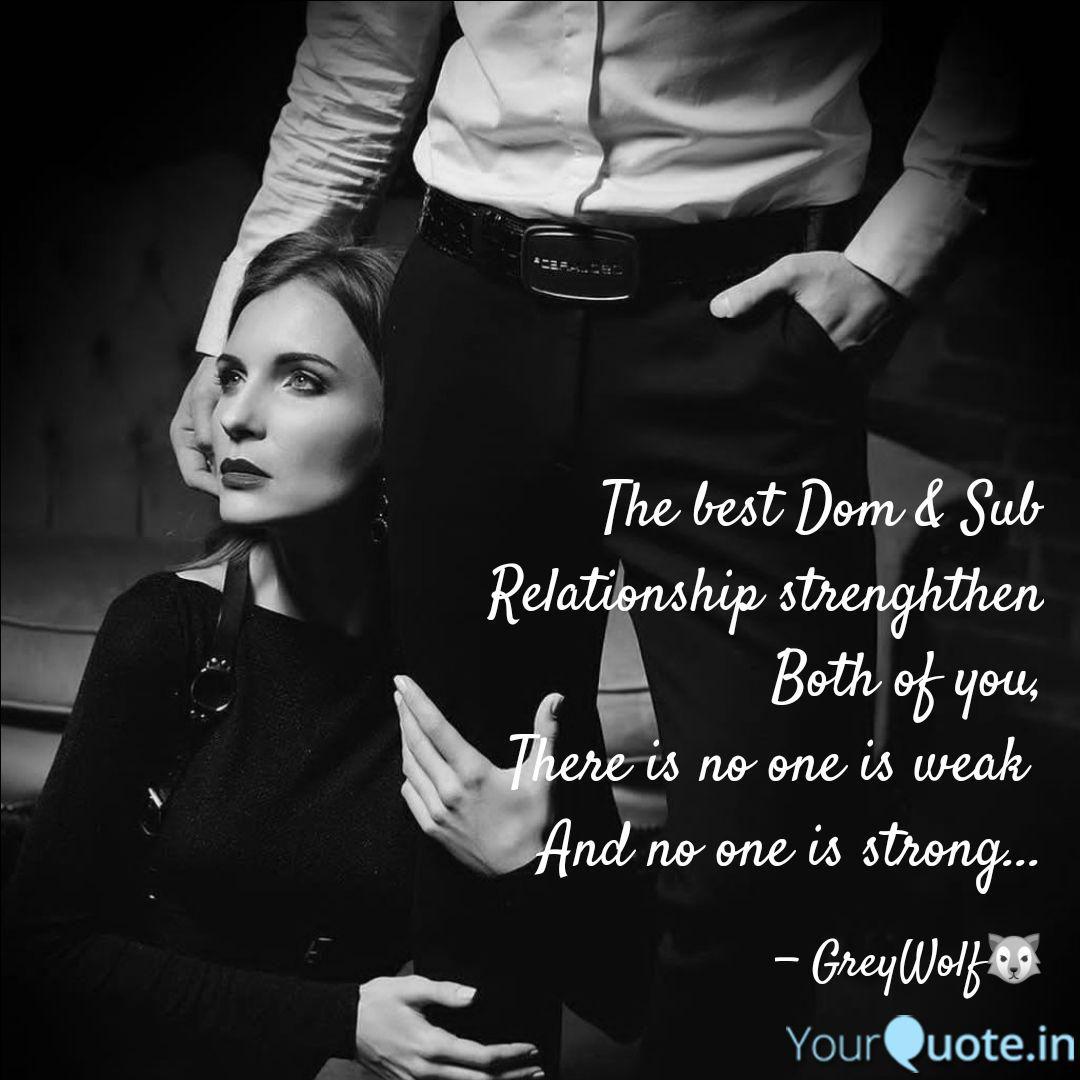Seeking dom sub relationship