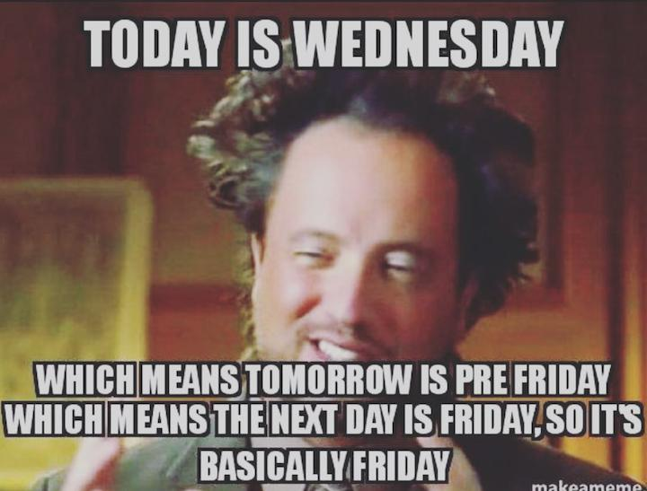 Today Is Wednesday Which Hump Day Meme