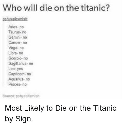 Who Will Die On Taurus Memes