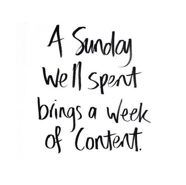 A Sunday Well Spent Sunday Quotes