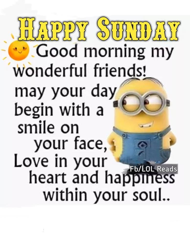 Good Morning My Wonderful Friends Sunday Quotes