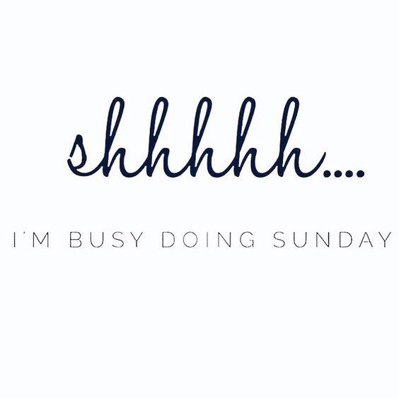 I'm Busy Doing Sunday Sunday Quotes