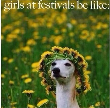 Girls At Festivals Be Flower Meme