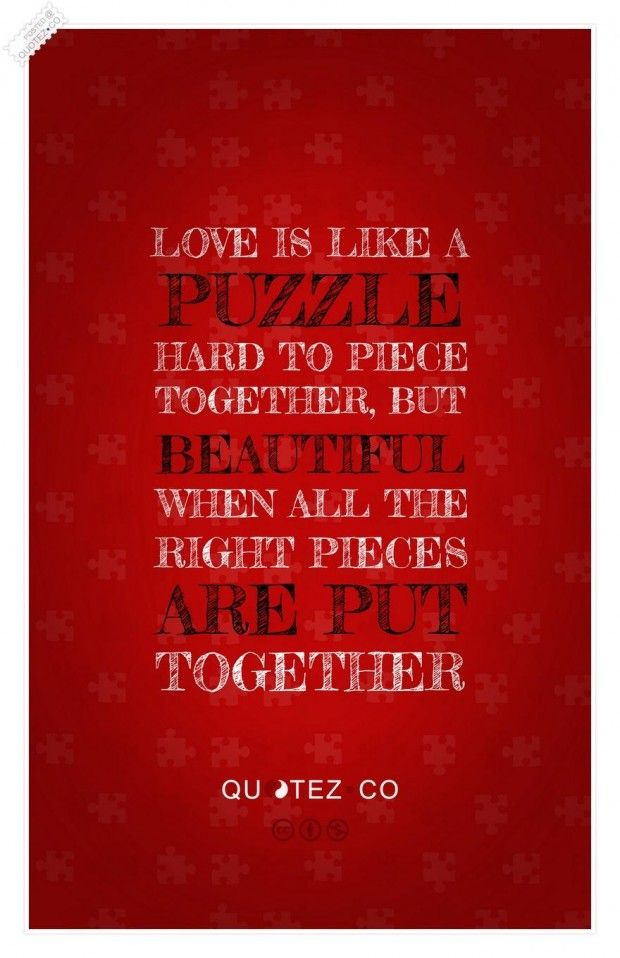 Hard To Piece Together Love Puzzle Quotes