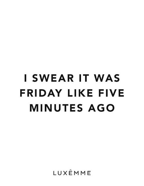 I Swear It Was Friday Monday Quotes