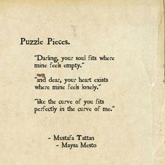 Perfectly In The Curve Love Puzzle Quotes