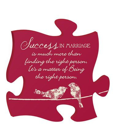 Success In Marriage Is Love Puzzle Quotes