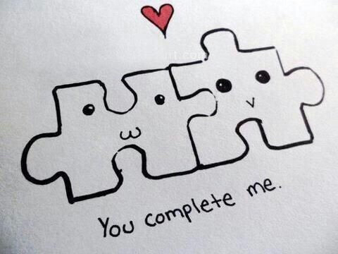 You Complete Me Love Puzzle Quotes