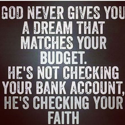 God Never Gives You Faith Quotes