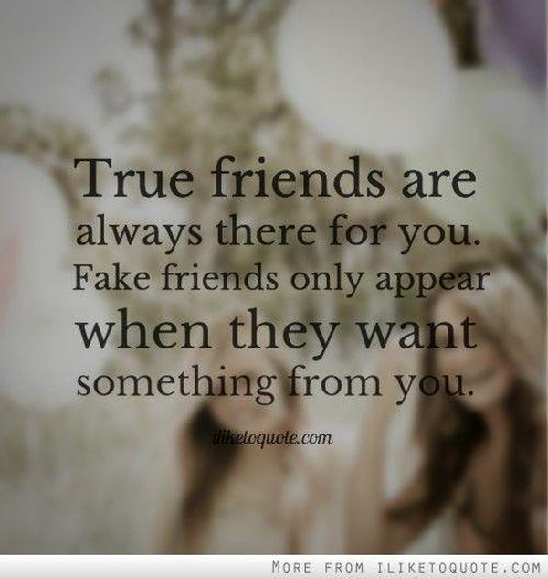 True Friends Are Always Fake Friends Quotes