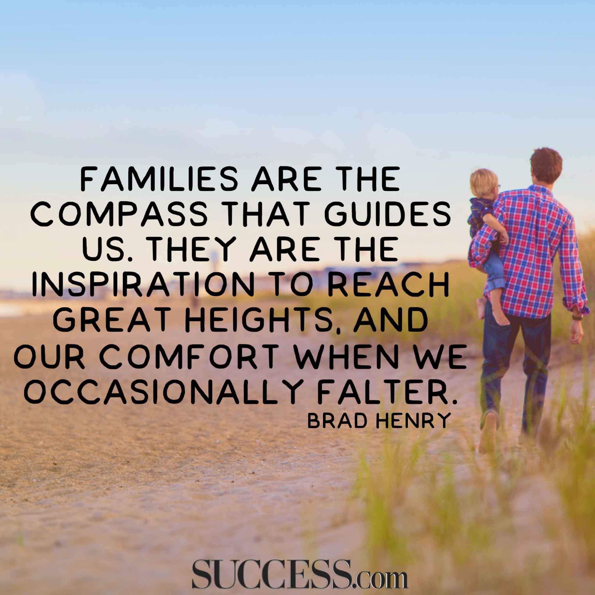 Families Are The Compass Family Quotes