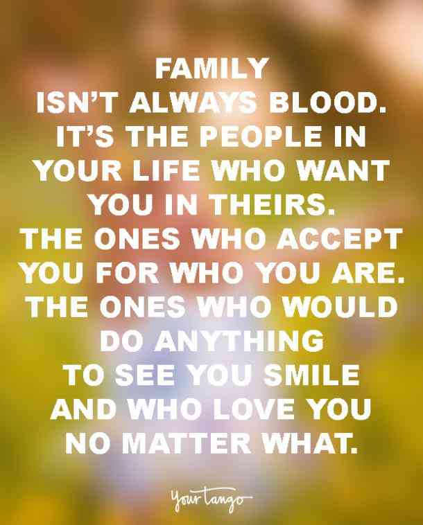 Family Isn't Always Blood Family Quotes