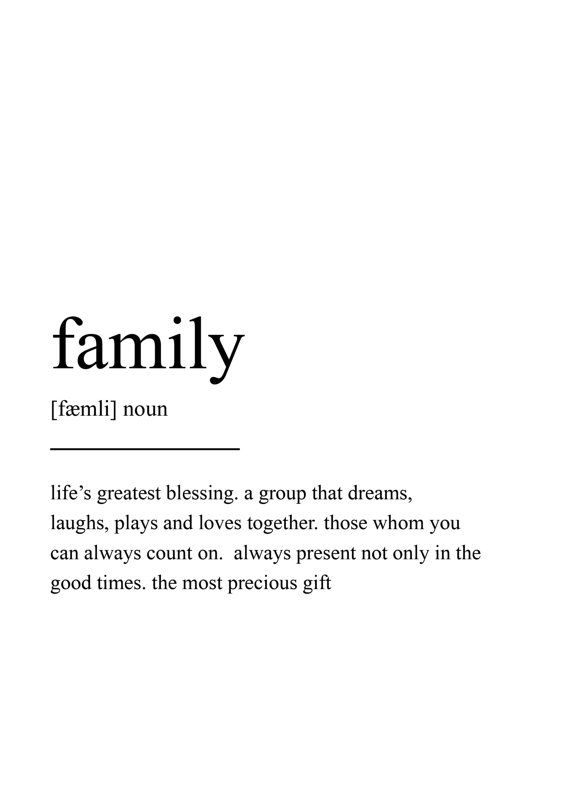 Life's Greatest Blessing A Family Quotes