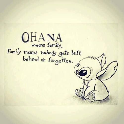Ohana Means Family Family Quotes