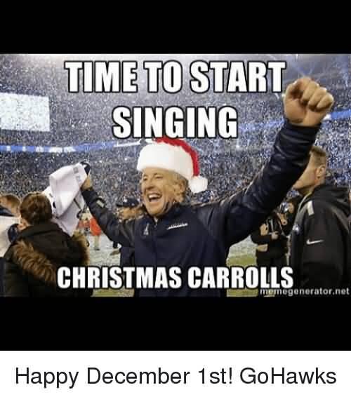 Time To Start Singing December Memes