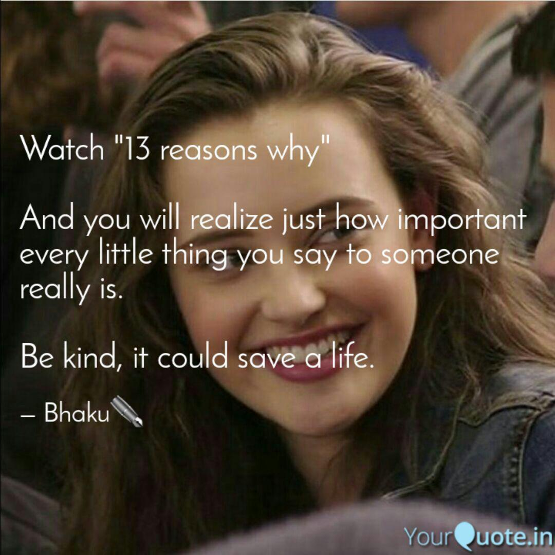 Bestest 13 Reasons Why Quotes