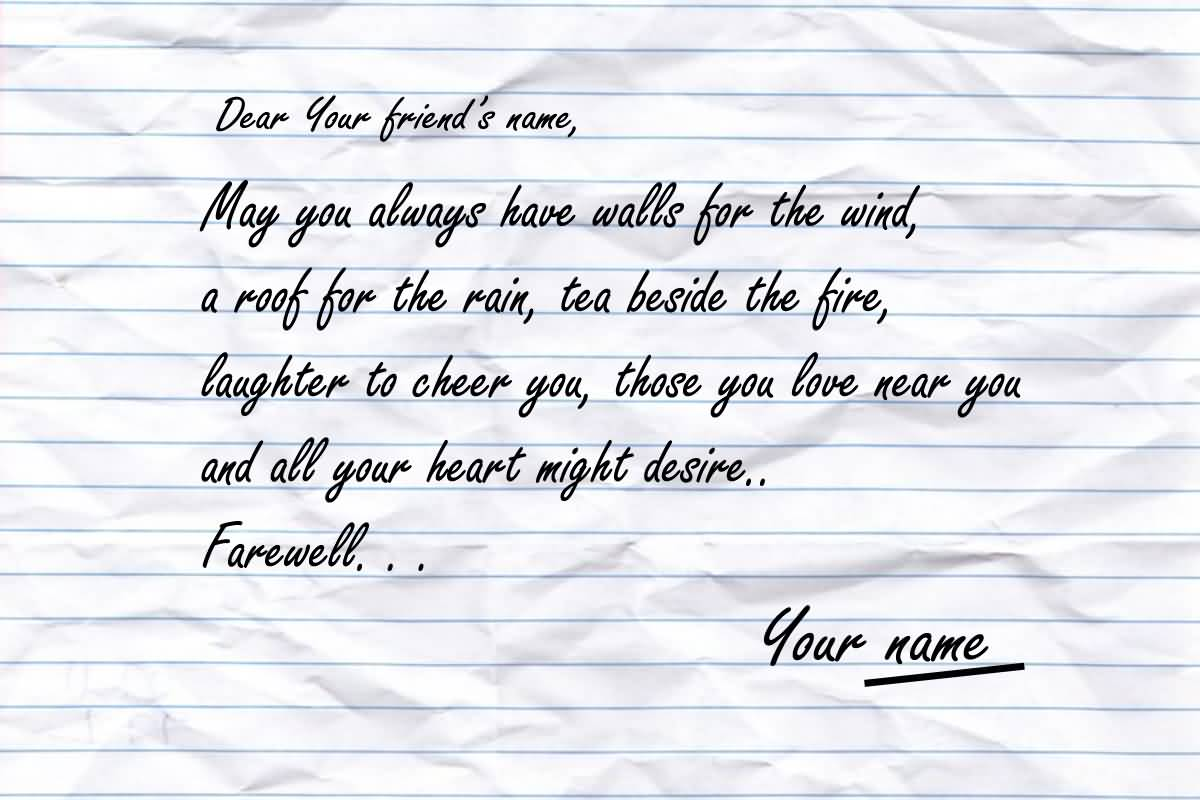 Dear Your Friends Name Farewell Quotes