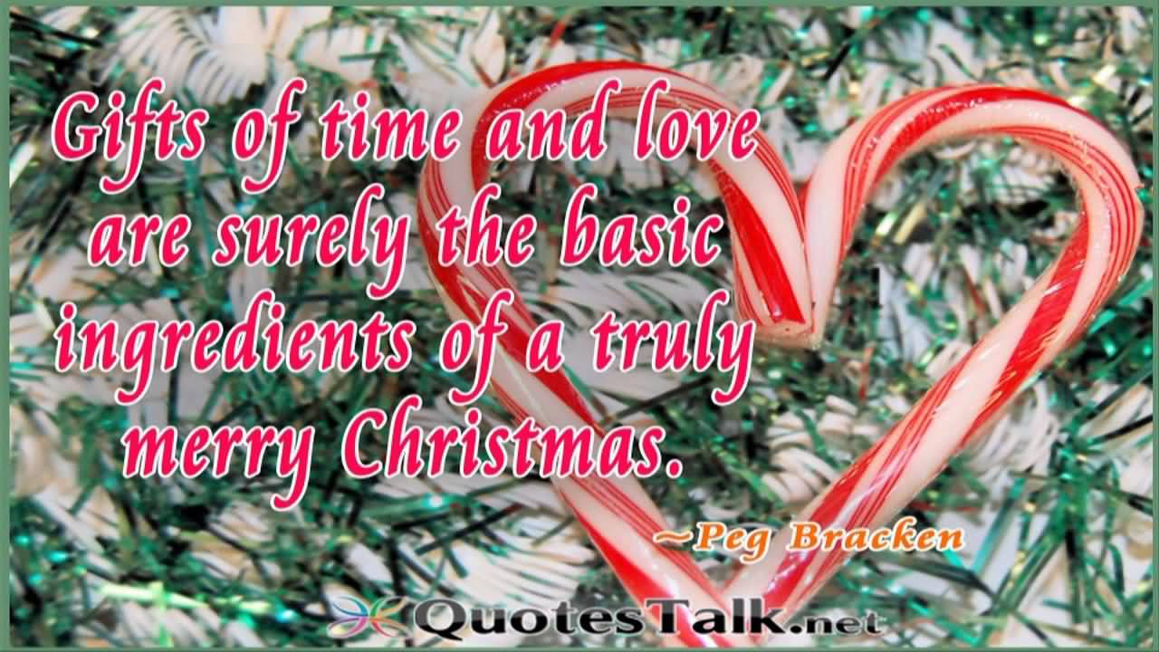 Gifts of time and love are surely the best