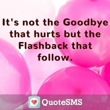 Its Not The Goodbye Farewell Quotes