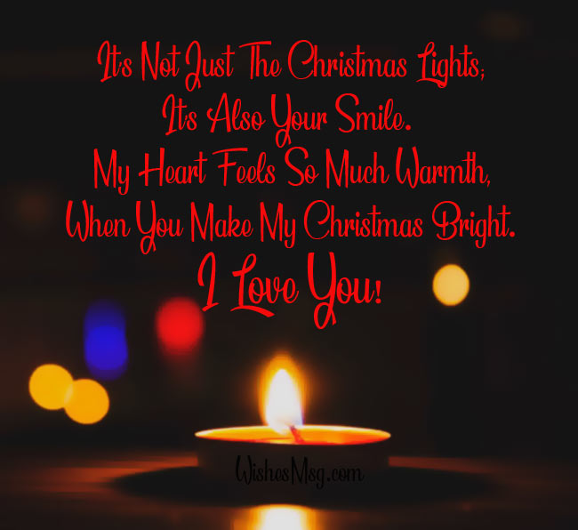 Its not just the christmas lights its also your smile