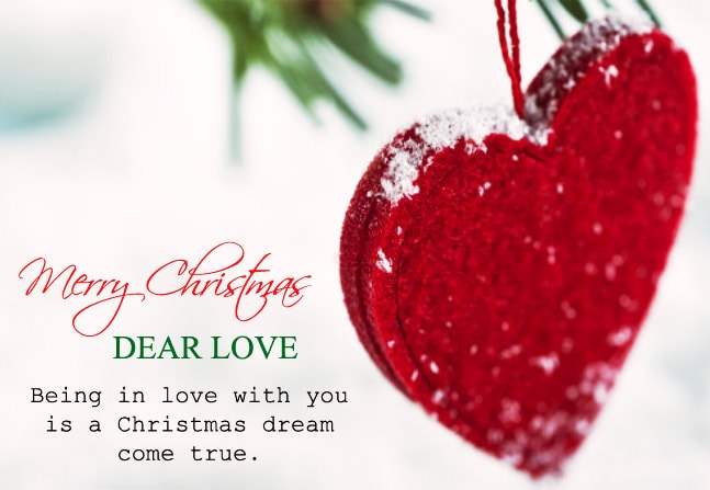 Merry christmas dear love being in love with you