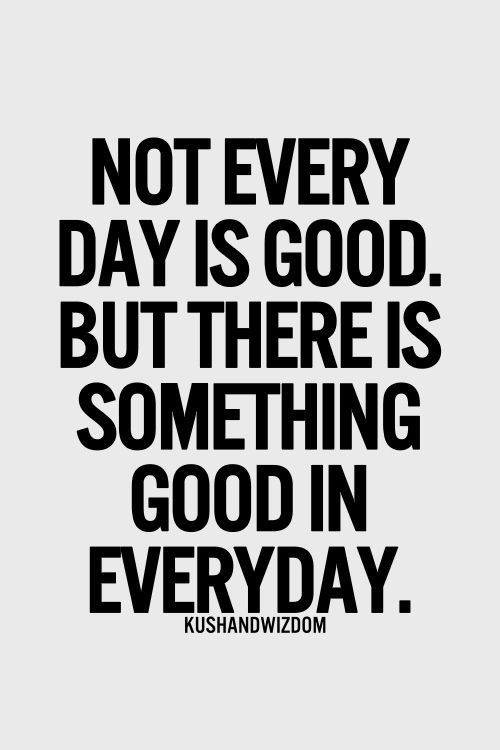 Not Every Day Is Good Famous Quotes About Life