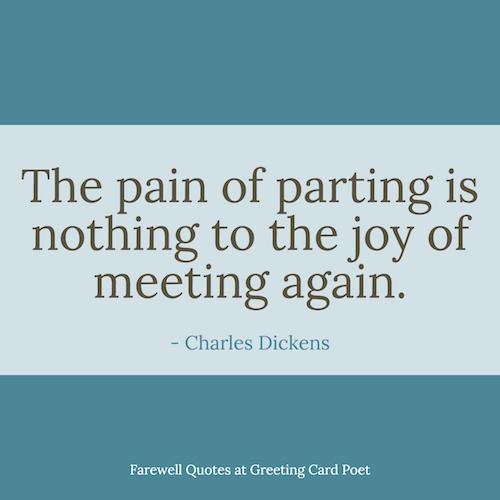 The Pain Of Parting Farewell Quotes