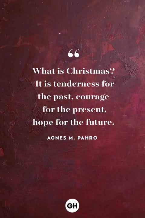 What is christmas It is tenderness for the past