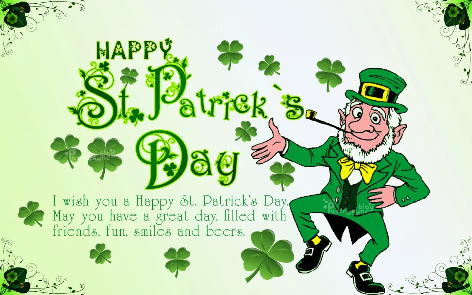Happy saint patrick's day Greetings wishes Quotes