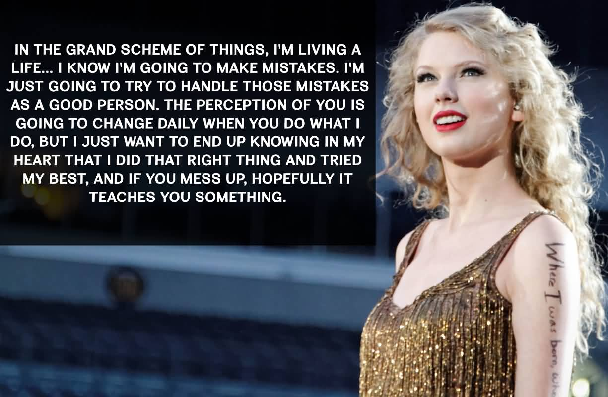 In The Grand Scheme Taylor Swift Quotes