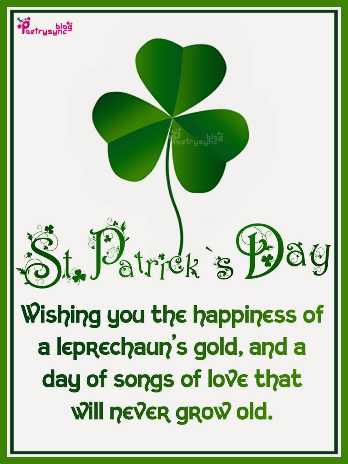 Lots of love happy saint patrick's day wishes