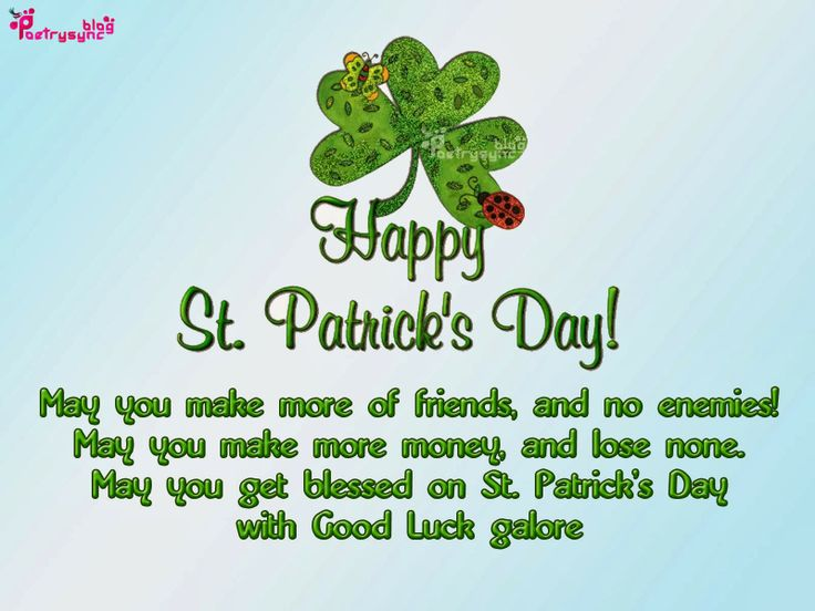 May GOD bless you saint patrick's day wishes and images