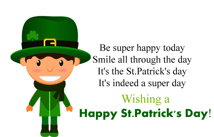 Wishes and quotes saint patrick's day greetings message images