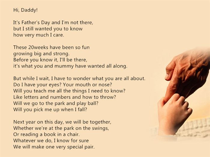It's Father's Day And unborn baby quotes for daddy