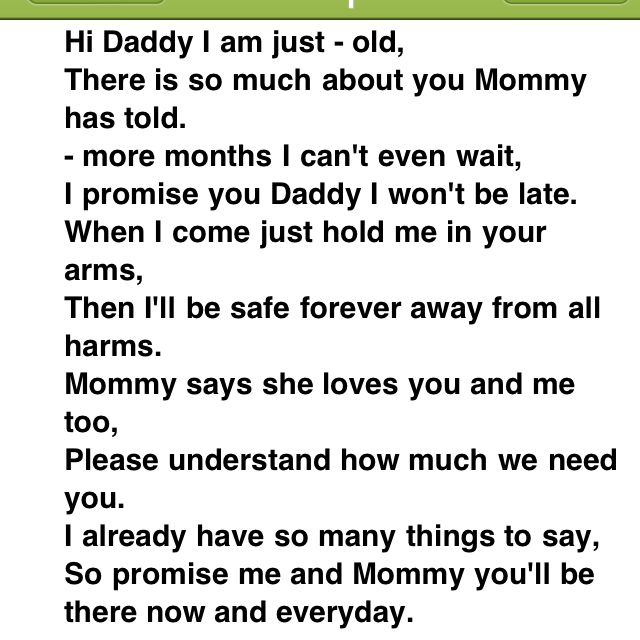 There Is So Much About unborn baby quotes for daddy