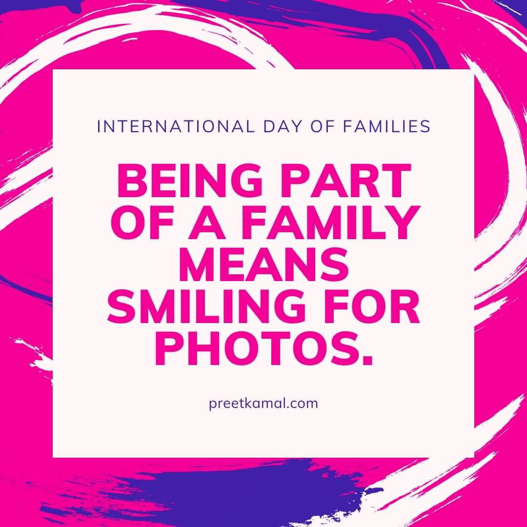 Nice International Day of Families Wishing Photo