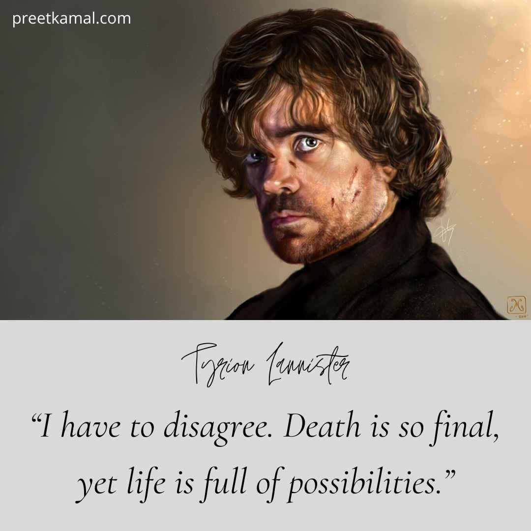 Tyrion Lannister Quotes About Death