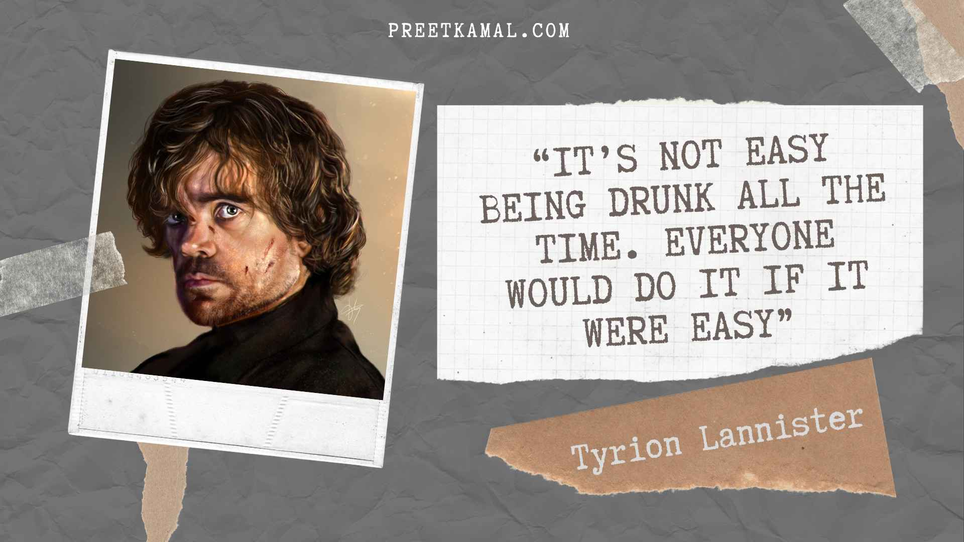 Tyrion Lannister Quotes HD Graphic