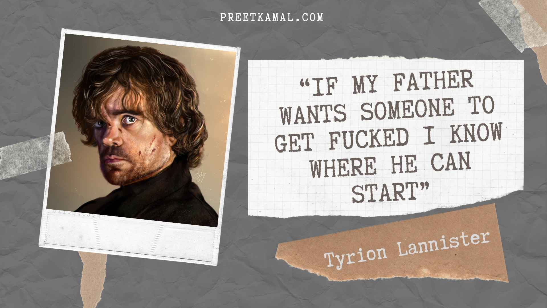 Tyrion Lannister Quotes Real