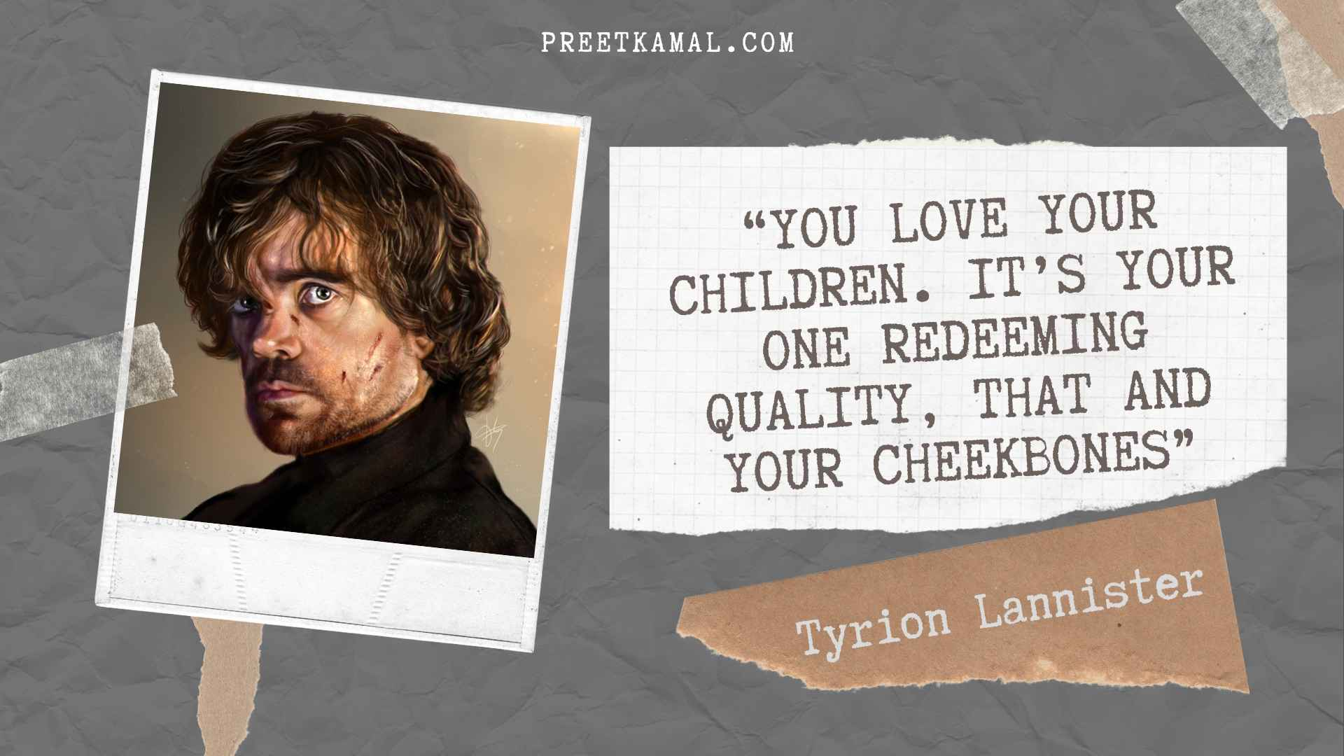 Tyrion Lannister Quotes Wallpaper