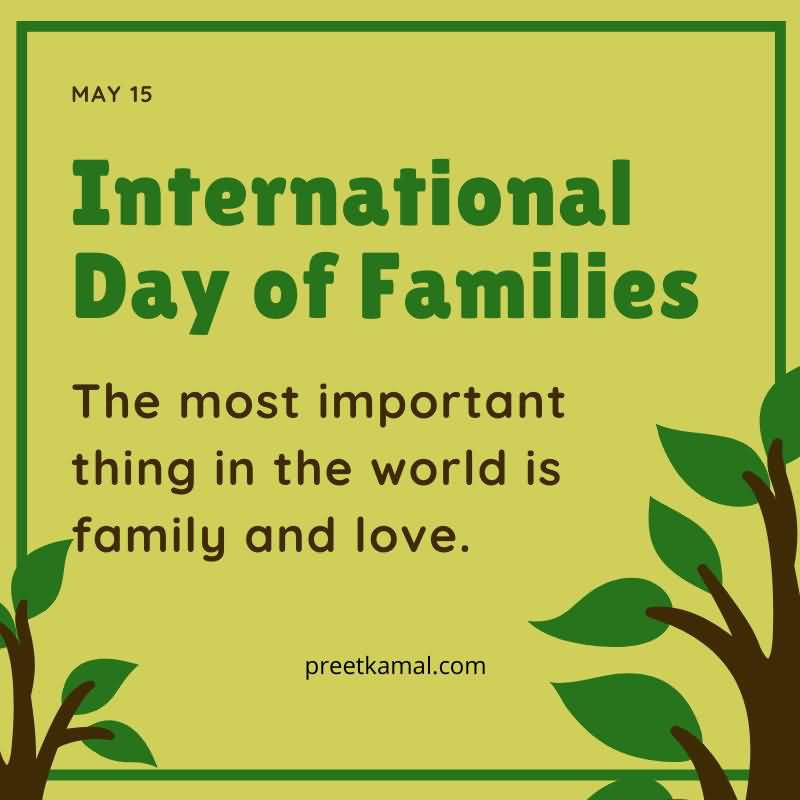 Unique International Day of Families Wallpaper HD