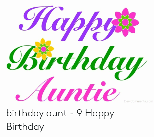 Happy Birthday Auntie Happy Birthday Aunt Meme