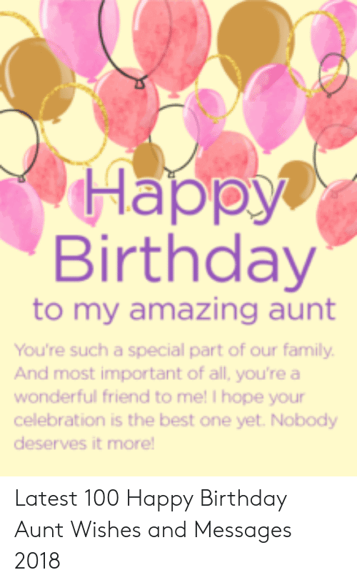 To My Amazing Aunt Happy Birthday Aunt Meme