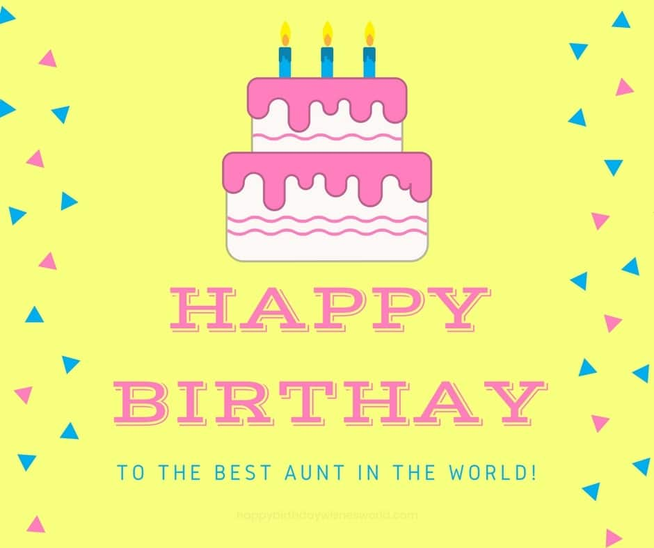 To The Best Aunt Happy Birthday Aunt Meme