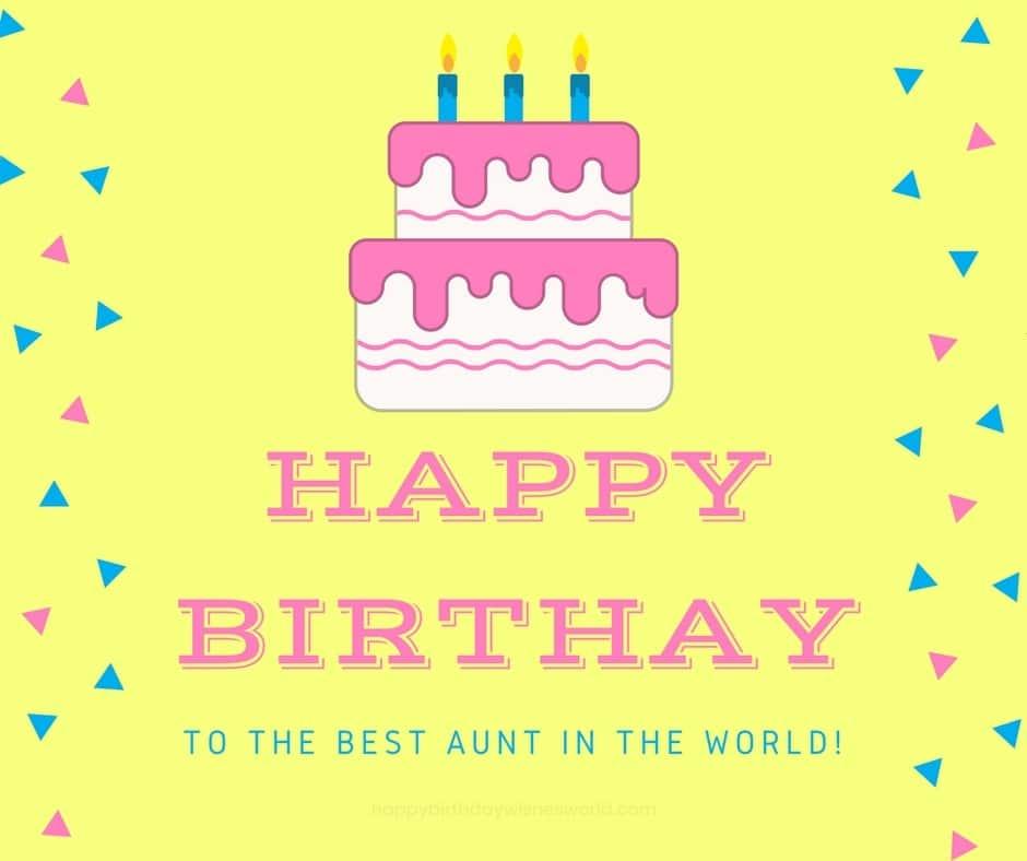To The Best Aunt Happy Birthday Aunt Meme