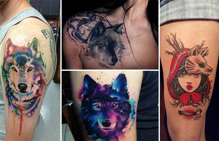 Amazing Wolf Tattoo Art Made With Watercolor