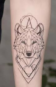 Best Ever Wolf Tattoo Idea Outline For Girls